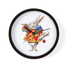 Alice's White Rabbit Wall Clock