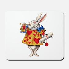 Alice's White Rabbit Mousepad
