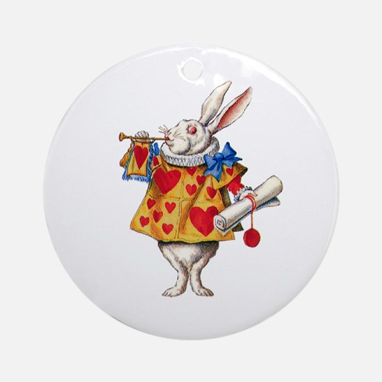 Alice's White Rabbit Ornament (Round)