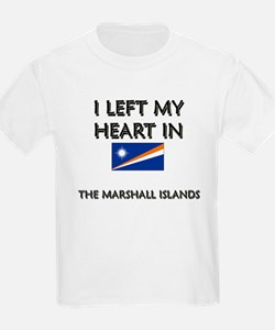I Left My Heart In The Marshall Islands Kids T-Shi