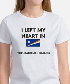 I Left My Heart In The Marshall Islands Women's T-
