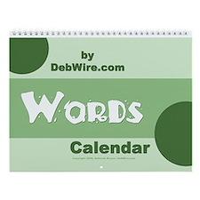 Words Wall Calendar