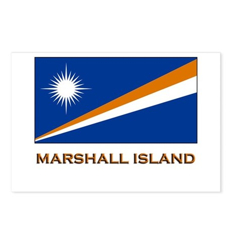 The Marshall Islands Flag Gear Postcards (Package