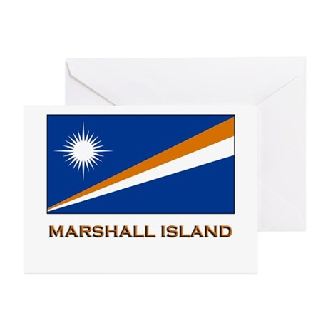 The Marshall Islands Flag Gear Greeting Cards (Pac
