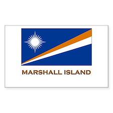 The Marshall Islands Flag Gear Sticker (Rectangula