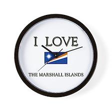 I Love The Marshall Islands Wall Clock