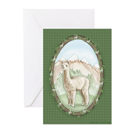 Alpaca Warmth Greeting Cards