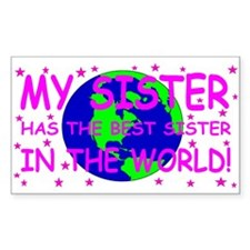 My sister has the best sister in the world Decal