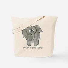 Elephant. Custom Text. Tote Bag