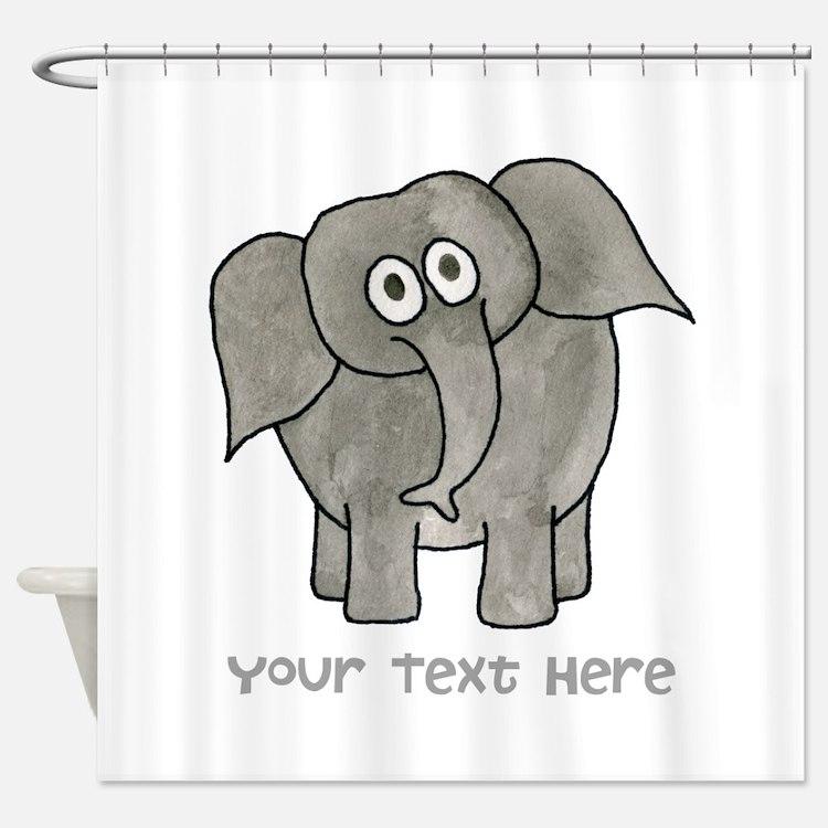 Personalized elephant bathroom accessories decor cafepress for Elephant bathroom accessories
