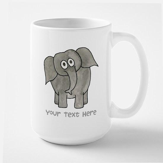 Elephant. Custom Text. Large Mug