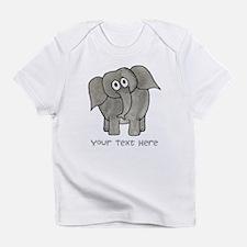 Elephant. Custom Text. Infant T-Shirt