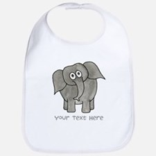 Elephant. Custom Text. Bib