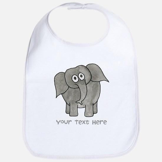 Elephant. Custom Text. Bib