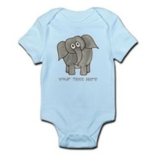 Elephant. Custom Text. Infant Bodysuit
