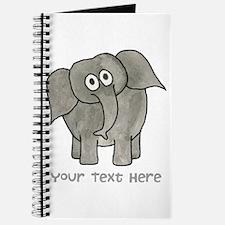Elephant. Custom Text. Journal