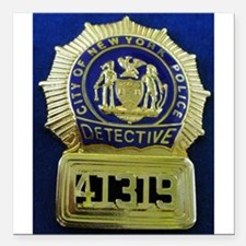 "Detective Kate Beckett Square Car Magnet 3"" x 3"""