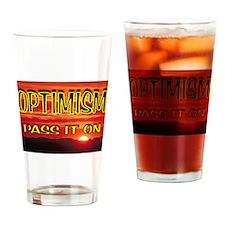 OPTIMISM Drinking Glass