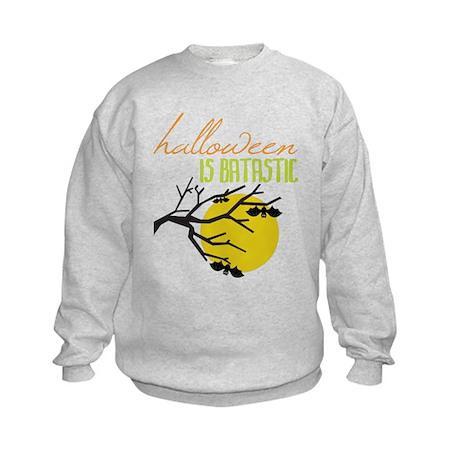 Halloween Is Batastic Kids Sweatshirt