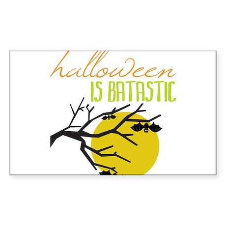 Halloween Is Batastic Sticker (Rectangle)