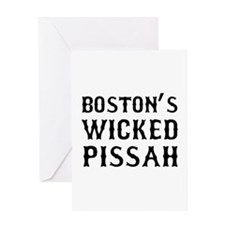 Boston Wicked Pissah Greeting Card