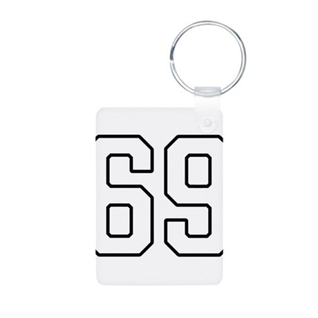 NUMBER 69 Keychains by TheGraphicsKing