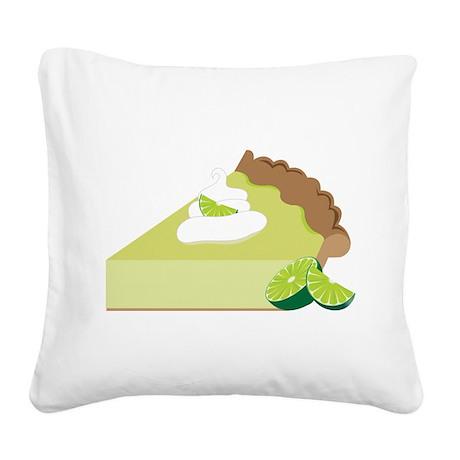 Key Lime Pie Square Canvas Pillow
