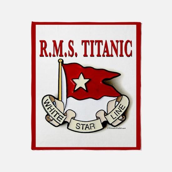 White Star line (white/red border) Throw Blanket