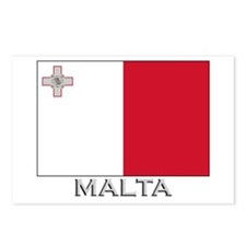 Malta Flag Gear Postcards (Package of 8)