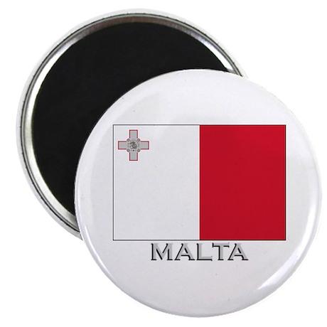 Malta Flag Gear Magnet