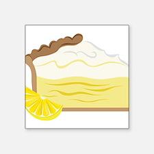 "Lemon Pie Square Sticker 3"" x 3"""