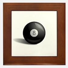 Eight Ball Pool Framed Tile