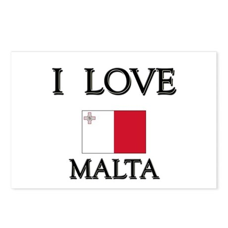 I Love Malta Postcards (Package of 8)