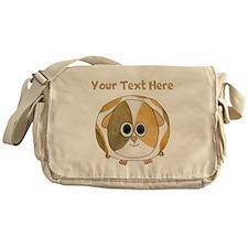 Guinea Pig. Custom Text. Messenger Bag