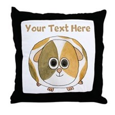Guinea Pig. Custom Text. Throw Pillow