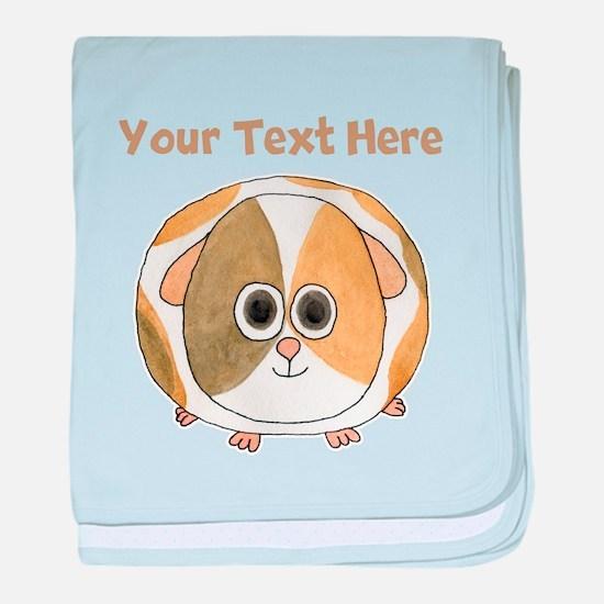 Guinea Pig. Custom Text. baby blanket