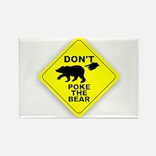 Dont Poke The Bear Rectangle Magnet