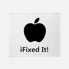 iFixed It Apple Throw Blanket