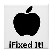 iFixed It Apple Tile Coaster