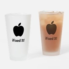 iFixed It Apple Drinking Glass
