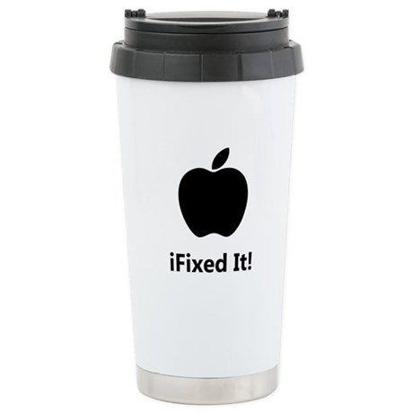 iFixed It Apple Stainless Steel Travel Mug