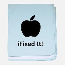 iFixed It Apple baby blanket