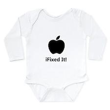 iFixed It Apple Long Sleeve Infant Bodysuit