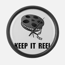 Keep Movie Reel Large Wall Clock