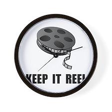 Keep Movie Reel Wall Clock