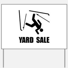 Ski Yard Sale Yard Sign