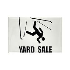 Ski Yard Sale Rectangle Magnet (10 pack)