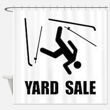Ski Yard Sale Shower Curtain