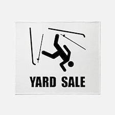 Ski Yard Sale Throw Blanket