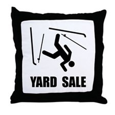 Ski Yard Sale Throw Pillow